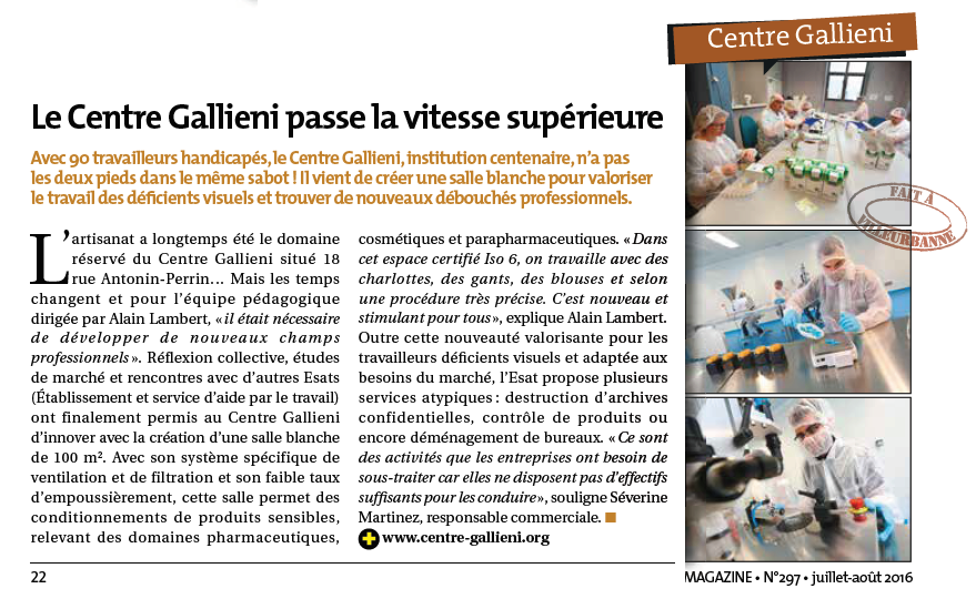 centre gallieni article viva salle blanche